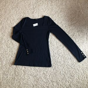 Limited, size small Square neck navy top